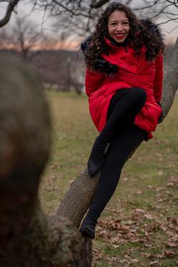 Red Coat Winter