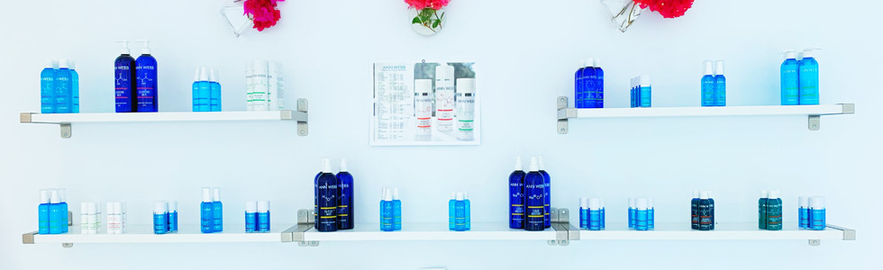 Skin Care Product Display In Lobby