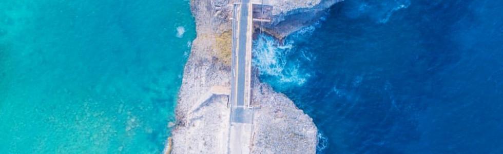 Birdseye View of Glass Window Bridge