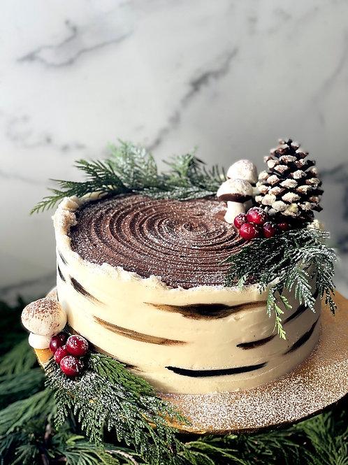 Bûche de Noël Birch Log Cake