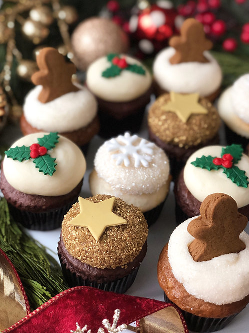 1 Dz Classic Christmas Cupcakes