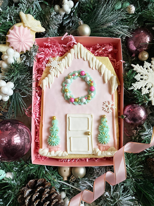 Large Christmas House Cookie