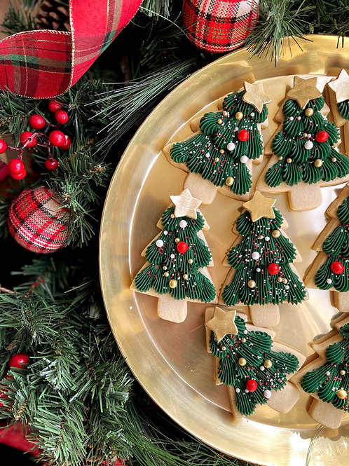 6 Buttercream Tree Cookies