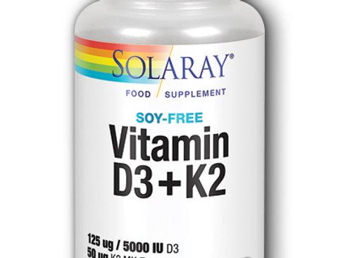 Solaray. Vitamin d3+ k2.