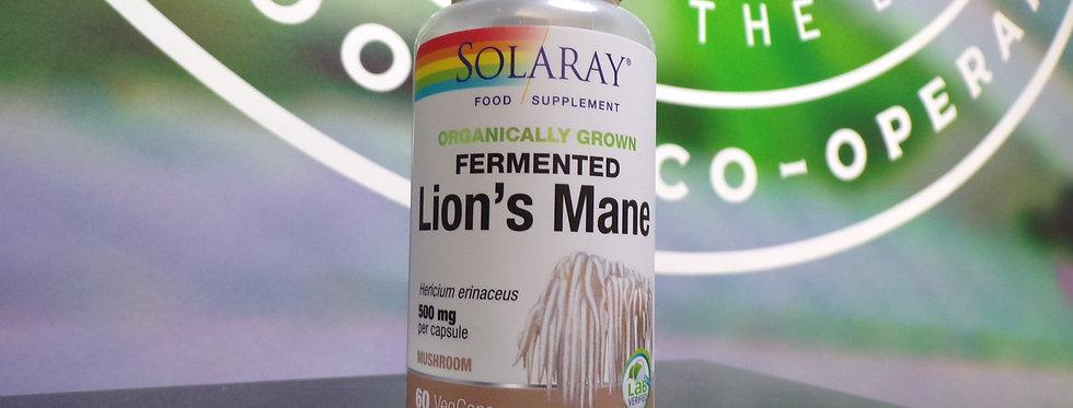 Solaray. Lions mane mushrooms. 60 x 500mg