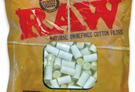 Raw Natural Unrefined Cotton Filters