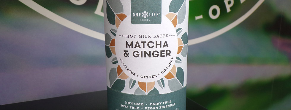 One life matcha and ginger .