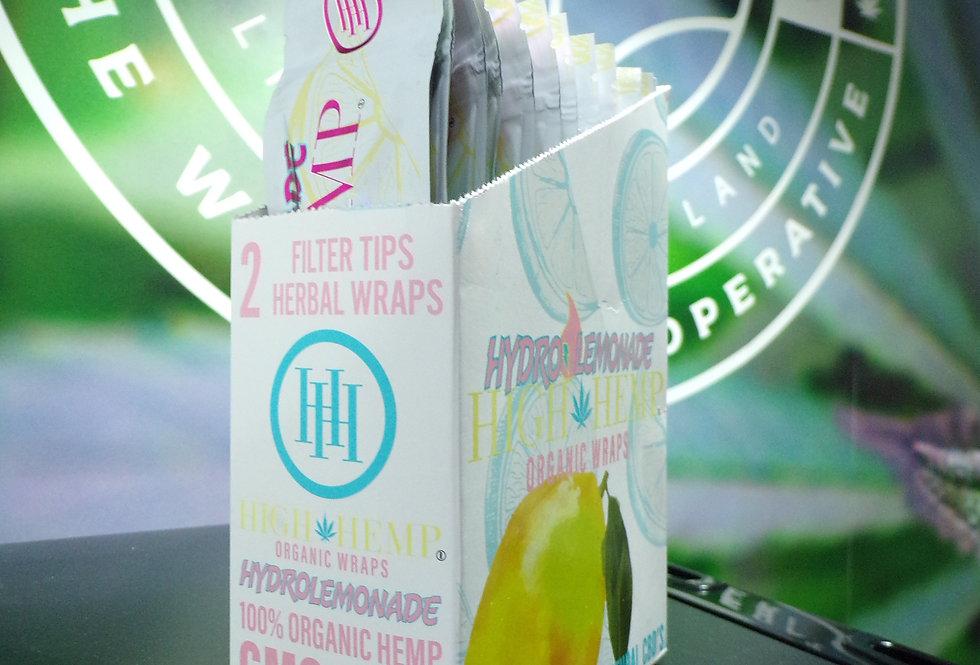 High hemp hydro lemonade organic wraps.