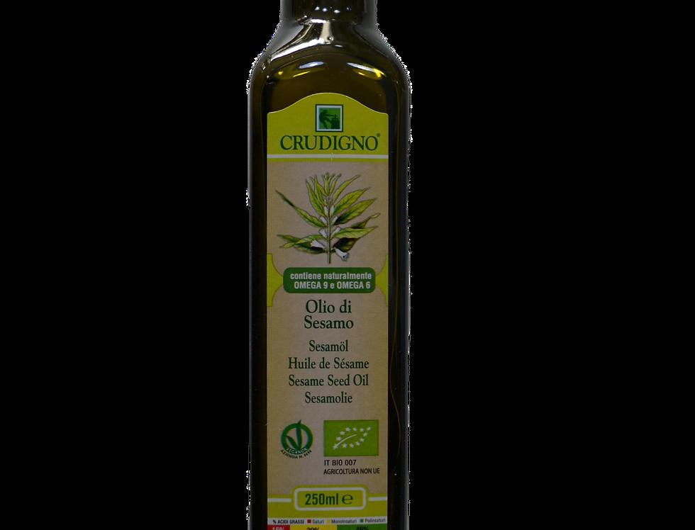 Crudigno Organic Sesame Seed Oil.