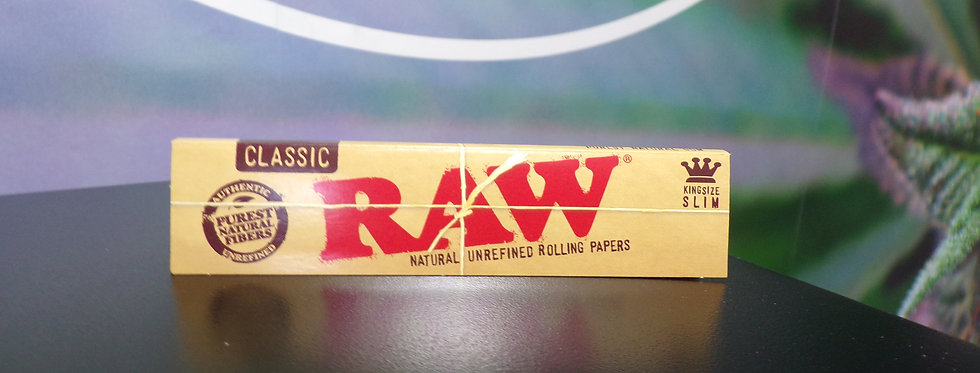 Raw king size slim papers.