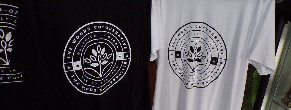 The woods co-op t-shirt. size large.