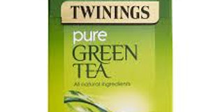 Twinings pure green tea.