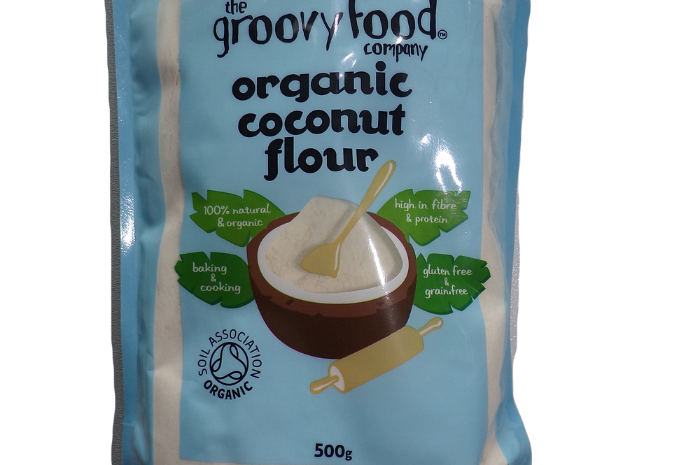 The groovy food company.  Coconut flour organic.