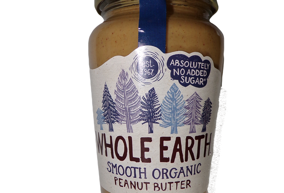Whole earth. Smooth organic peanut butter.