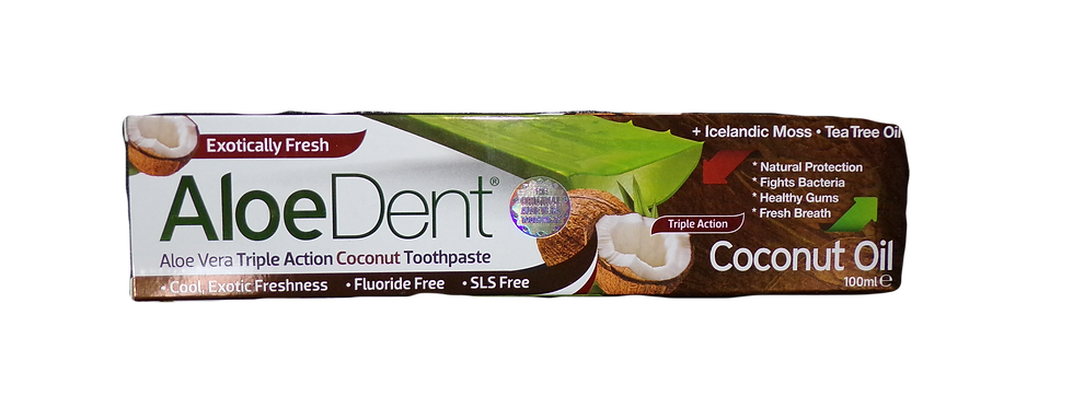 Aloe dent coconut oil toothpaste. 100g