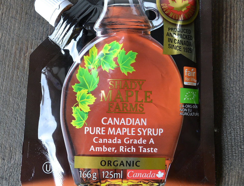 Shady maple farms Organic pure maple syrup. 125ml