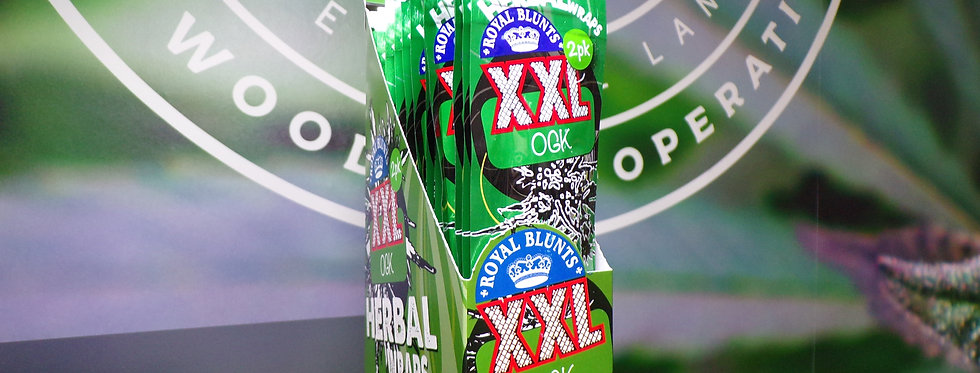 Royal blunts XXL OGK. Herbal wraps. 2pk.