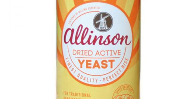 Allinsons dried yeast. 125g