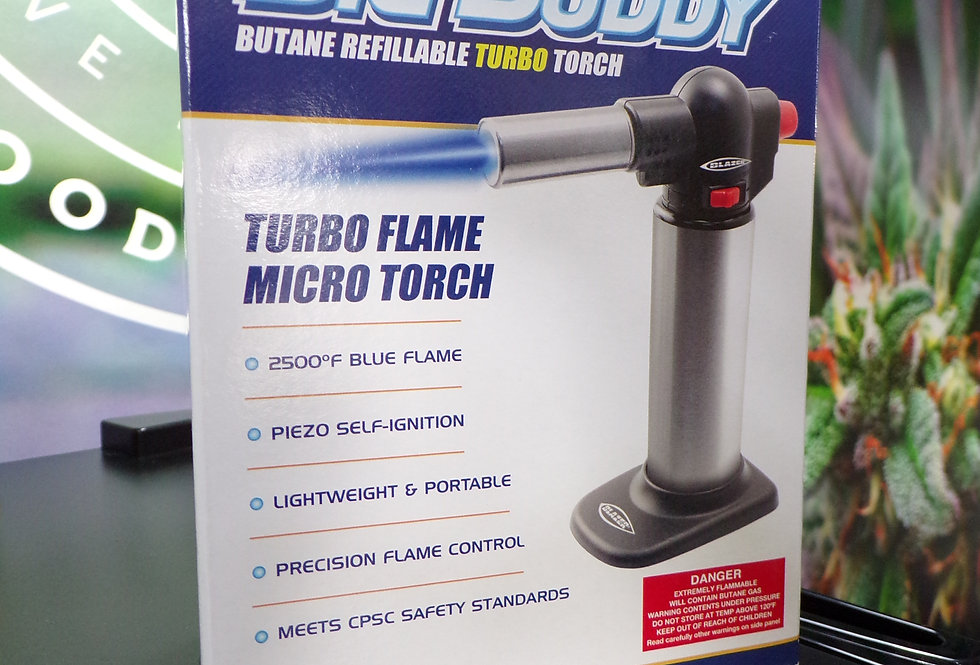 Blazer big buddy. Turbo flame micro torch.