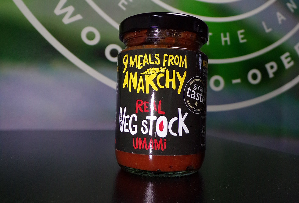 9 meals from anarchy. Umami veg stock.