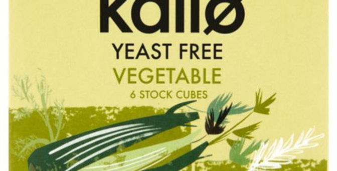 Kallo Vegetable Stock Cubes - Yeast Free 66g