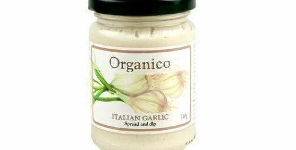 Organico. Organic garlic spread and dip. 140g.