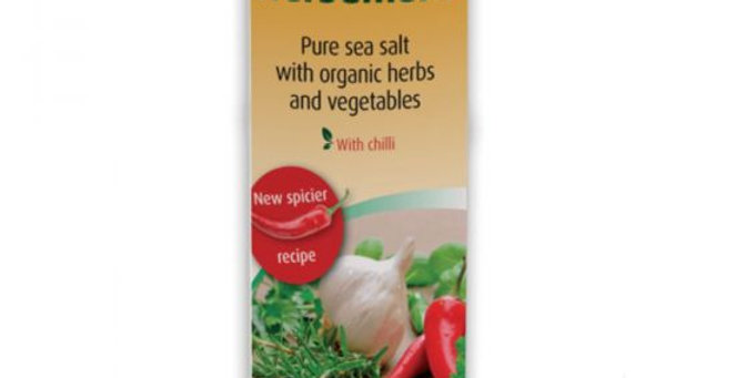Herbamare. Organic pure sea salt with herbs and vegetables.