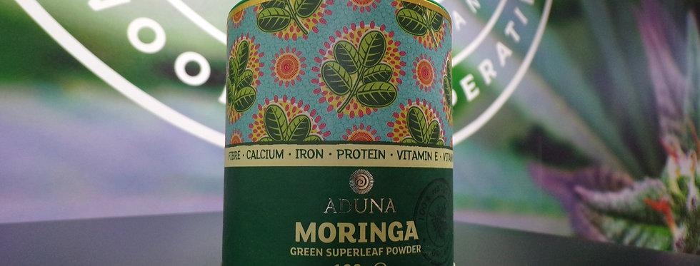 Aduna. Moringa, green superleaf powder. 100g