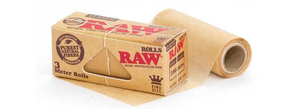 Raw 3 meter rolls.