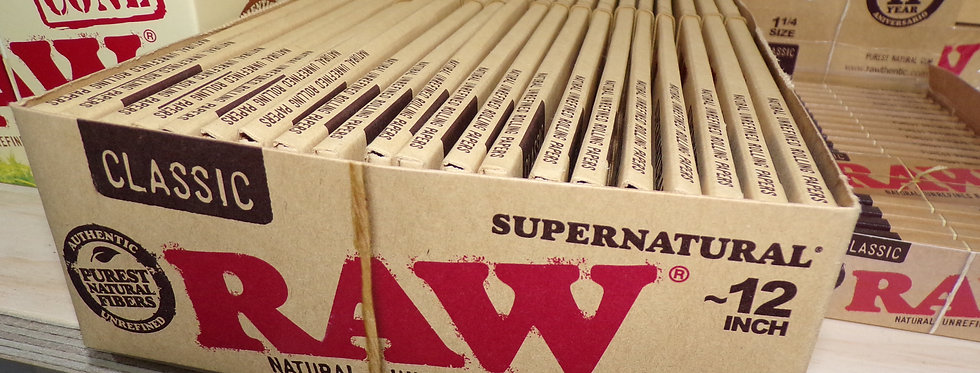 Raw supernatural 12inch rolling papers. classic.