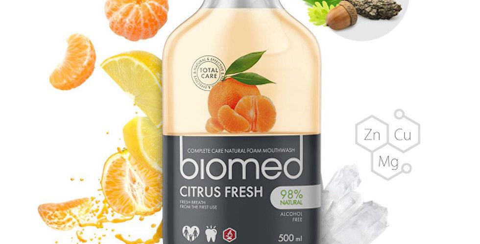 Biomed. Complete care natural foam mouthwash.