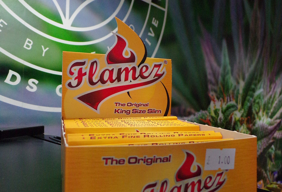 Flames rolling papers.