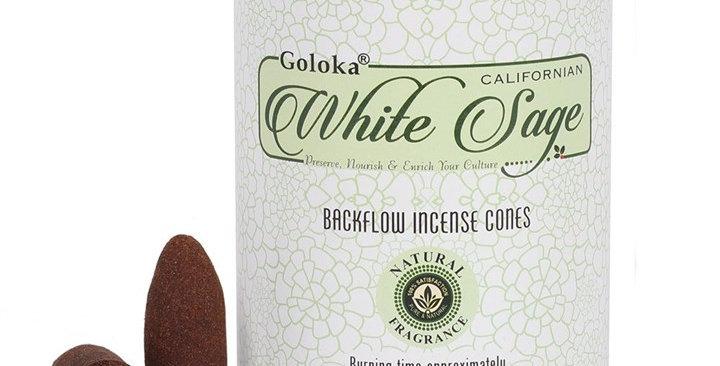 GOLOKA WHITE SAGE BACKFLOW INCENSE CONES