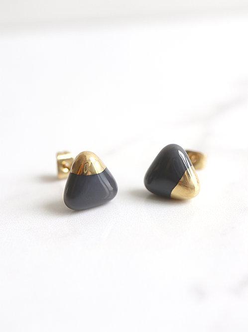 PEZZO stud earrings - Grey