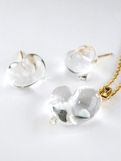 CUORE necklace & stud earring- Clean