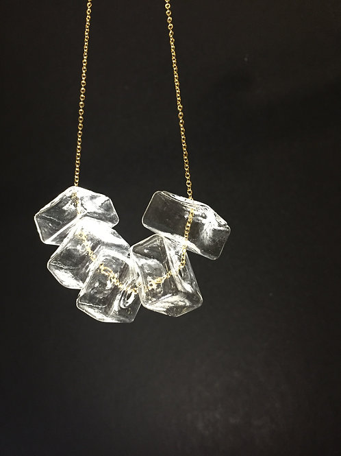 GELA - Glass Ice Cube Necklace