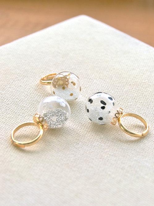 BOLLA ring - Polka dot bubble ring