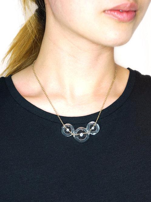 BACI - 3 Glass Bubbles Necklace