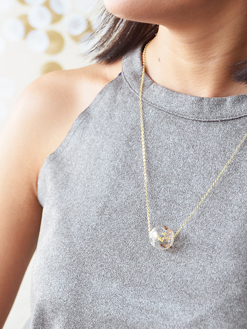 D'ORO round - Hand-paint round bubble necklace