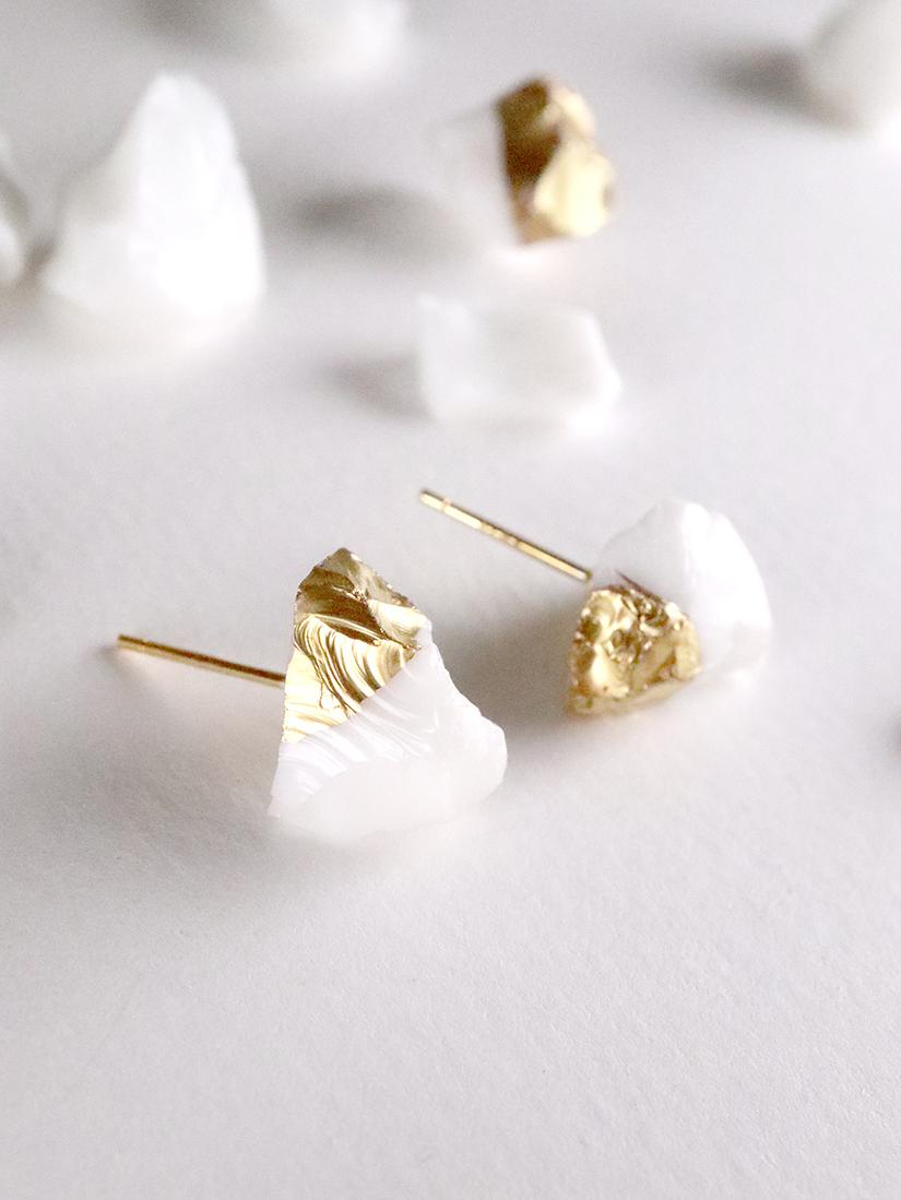 STAR STONE stud earrings