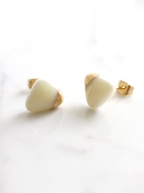 PEZZO stud earrings - White