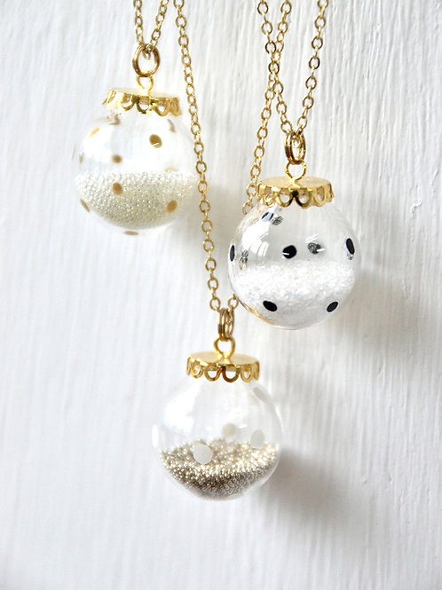 BUBBLE necklace- Polka dot bubble necklace