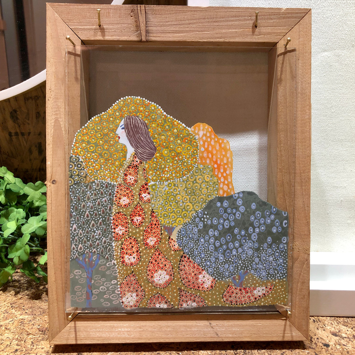 Venetian enamal glass painting