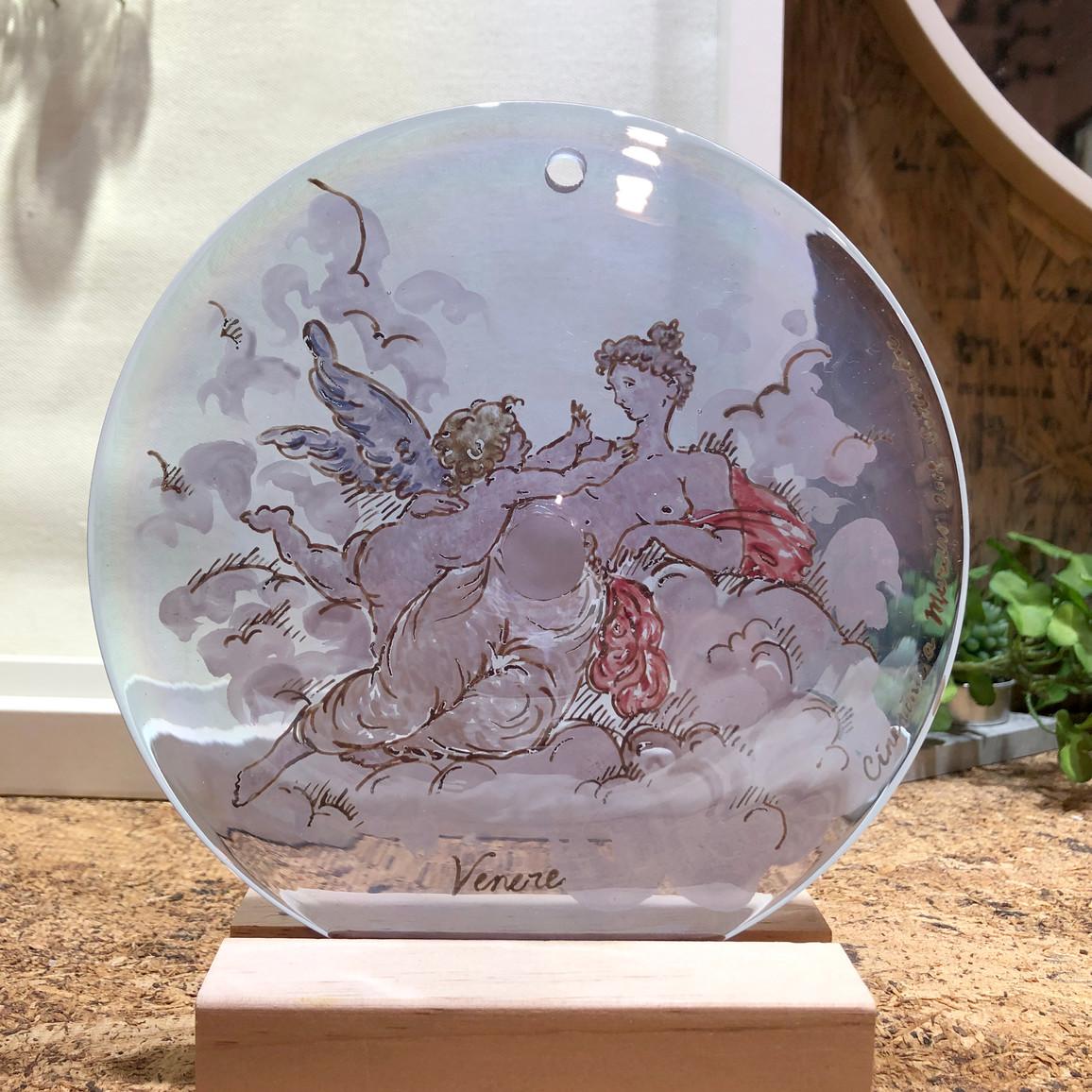Venetian inverts glass painting
