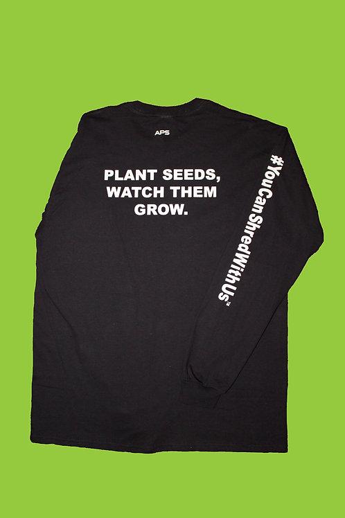 """Plant Seeds' Long Sleeve ( Black )"