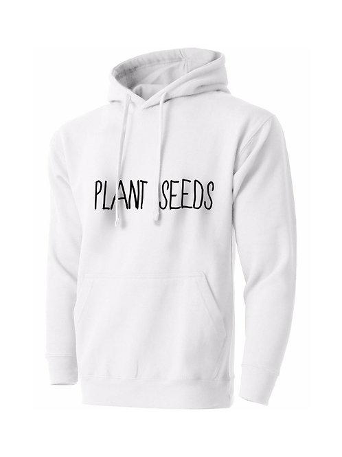 Plant Seeds Hoodie White