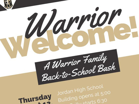 Warrior Welcome Aug. 12th
