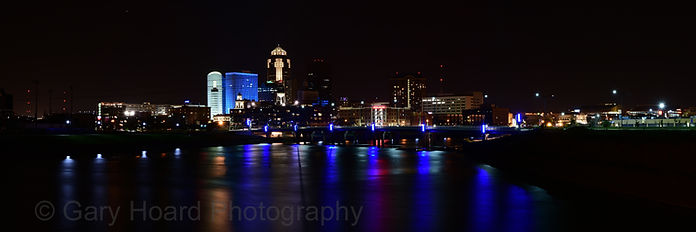 #2188 Des Moines night panoramic