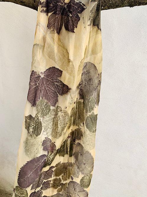 sjaal ecoprint