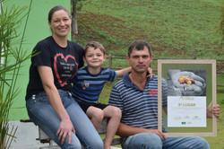 Sidney Grünewald e sua família